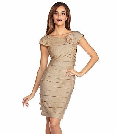 London Times Rosette-Corsage Tiered Dress Item #03591828: Bridesmaid Dresses, Time Rosette, Dillards London, Tiered Dresses, The Dresses, Dresses Items, Pretty, Products, London Time