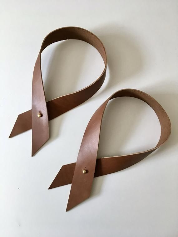 Recycled Leather Drape Curtain Tie Backs With Brass Button Studs Custom Made To Your Curtain Thick Curtain Tie Backs Curtain Ties Custom Made Curtains