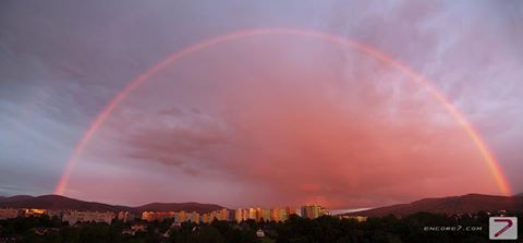 Rainbow over the city of Bielsko-Biała, Poland (the headquarters of our company)