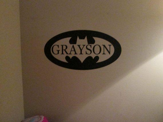 Batman synbol with Name cut out vinyl decal sticker by GaGaGallery, $13.00