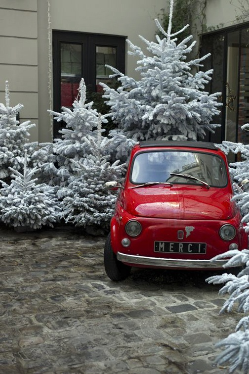 2014 Fiat 500c (Rosso Red body with Nero Black retractable soft top roof)