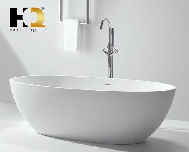 Freistehende Design Badewanne aus Mineralguss Vancouver