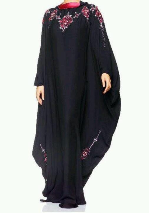 Beautiful and chic butterfly abaya.....