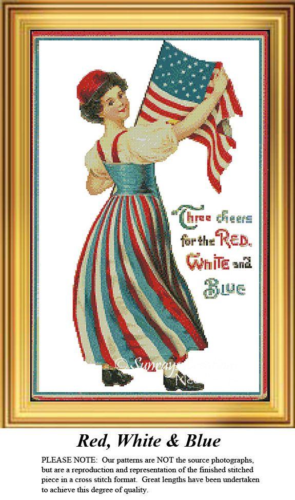 10 besten Patriotic Cross Stitch Patterns Bilder auf Pinterest ...