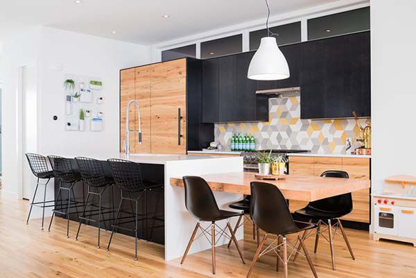 Kitchen Island Table Combo | like the manner this kitchen was designed especially the colors used ...