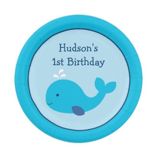 Nautical Whale Baby Shower Paper Plate  sc 1 st  Pinterest & 78 best Personalized Baby Shower u0026 Birthday Paper Plates images on ...