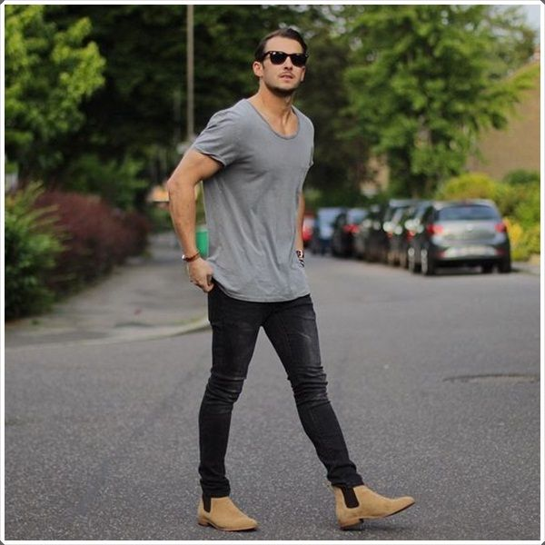 These are one of the classiest and different style boots to have during winters. They are without laces and are easy to wear and putting them off. The beautiful black and brown style boots is an amazing thing to have with jeans and tee.
