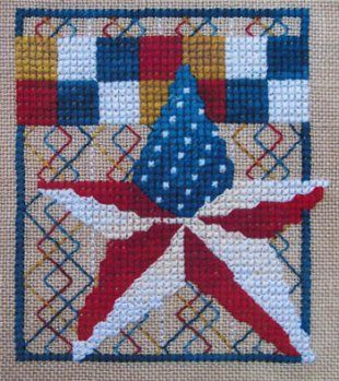 Stars and Stripes is the title of this cross stitch pattern from Miles To Go.