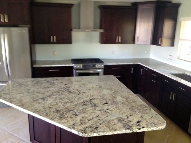 Mocha shaker cabinets modern hardware galaxy white for White kitchen cabinets with black galaxy granite