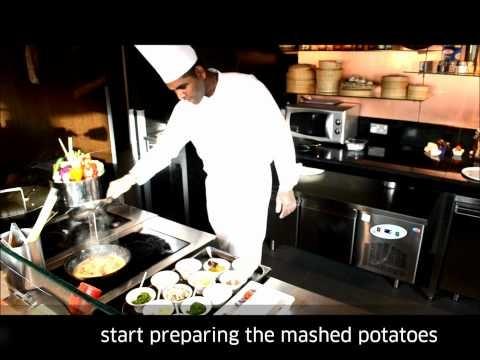 Garlic potato jumbo prawn with award-winning Chef Krishna Beeharee