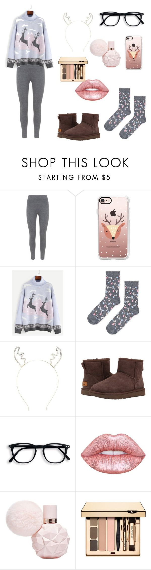 """""""Christmas time is here!!"""" by foodiefashion ❤ liked on Polyvore featuring Mint Velvet, Casetify, Topshop, Forever 21, UGG Australia, Lime Crime, Christmas, ootd and winterstyle"""