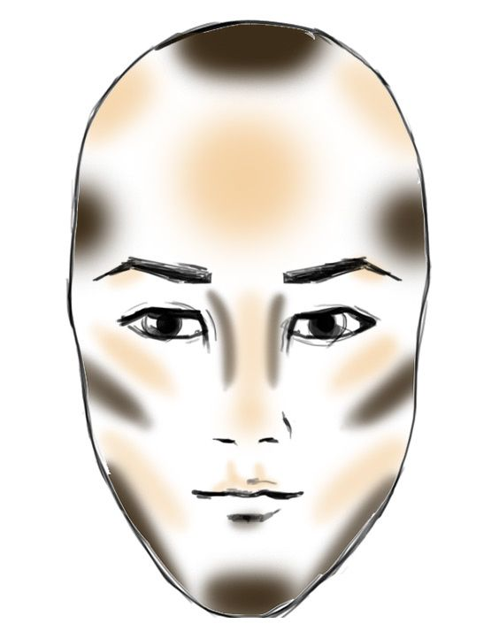 how to contour a long face