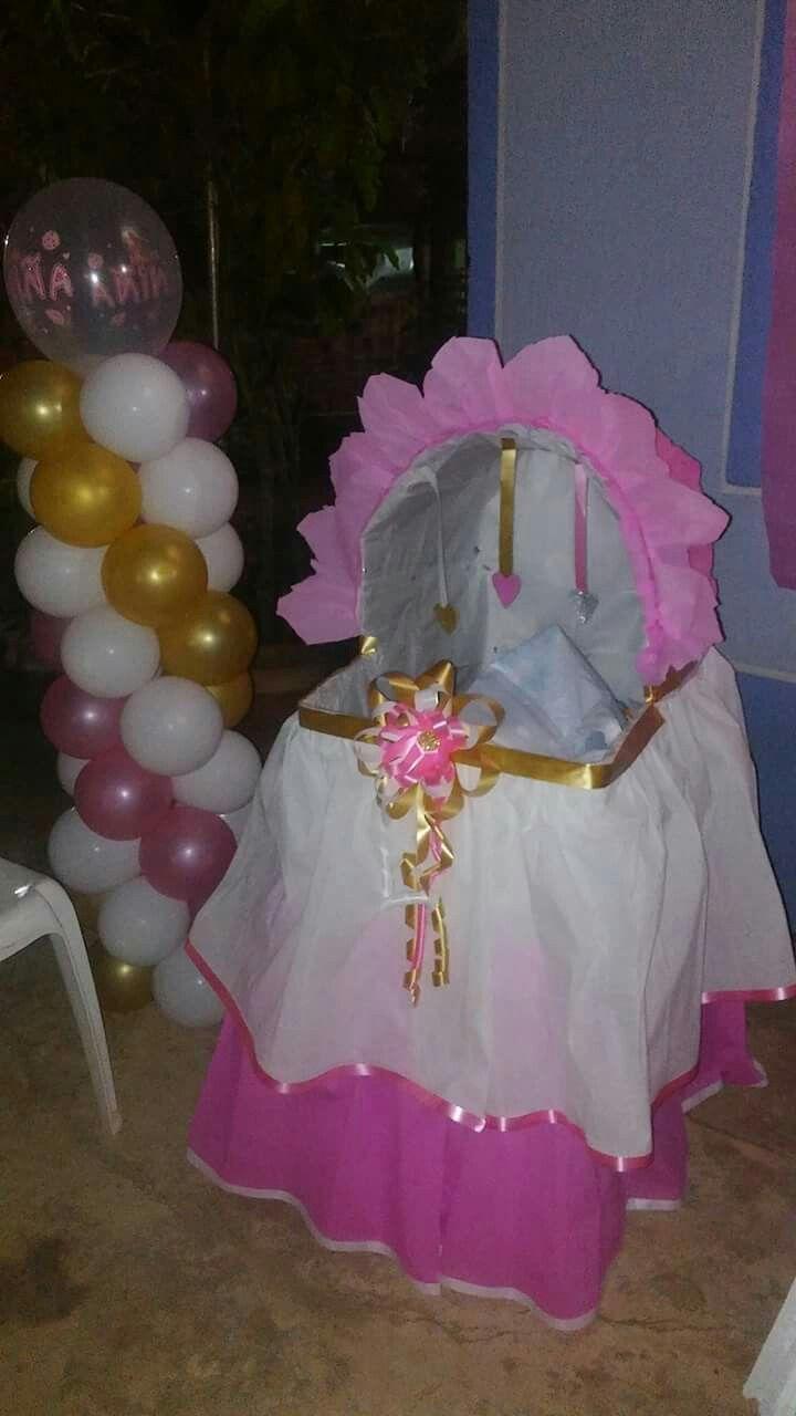 Caja de regalos baby shower Liseth franco Decoradora