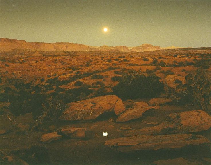 "latesummermoon: ""seventiescherry: ""endlessmeagain: ""endlessme: "" Moonrise over Pie Pan, Capitol Reef National Park, Utah 1977 Photo by John Pfahl Via melisaki "" """
