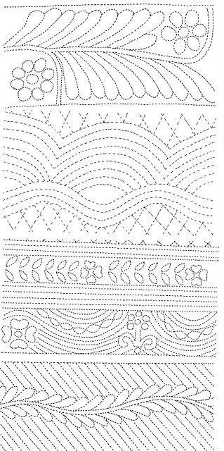 2202 best Quilting Designs, Free-Motion, Stencils, Ideas