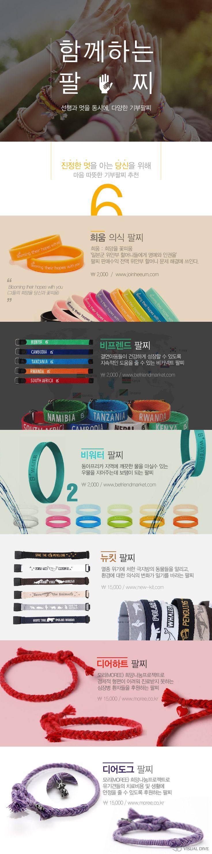 '선행'과 '멋'을 동시에!…아름다운 기부 팔찌 6가지 [인포그래픽] #Bracelet / #Infographic ⓒ 비주얼다이브 무단 복사·전재·재배포 금지