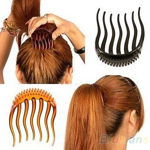 High Quality  Bump It Up Volume Inserts Hair Clip For Ponytail Bouffant Styles Hair Comb  AD6N