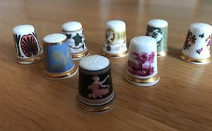 8 Beautiful Wedgwood Museum Collection Thimbles TCC Collectors Club  | eBay