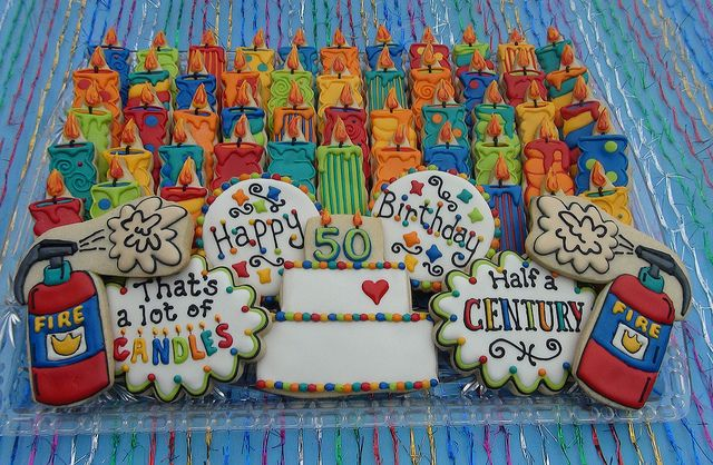 50th birthday cookies | Decorated Cookies | Pinterest ...