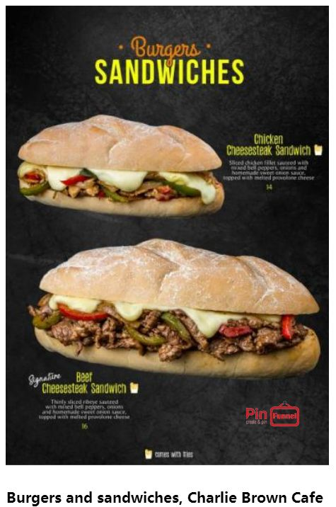 Best burgers and cheesesteak sandwiches deal specials 2018 at Charlie Brown Cafe, Orchard Road, Singapore, the best comics themed cafe at Cathay Cineleisure Orchard. It is Singapore MUIS Halal certified restaurant and cafe.