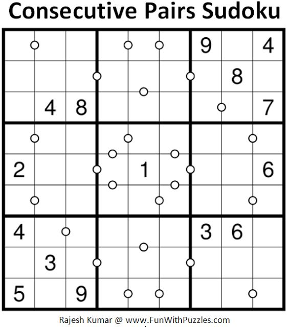 Consecutive Pairs Sudoku (Daily Sudoku League #183)