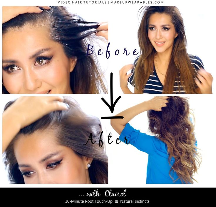 CLAIROL ROOT TOUCH-UP BEFORE AFTER PIC