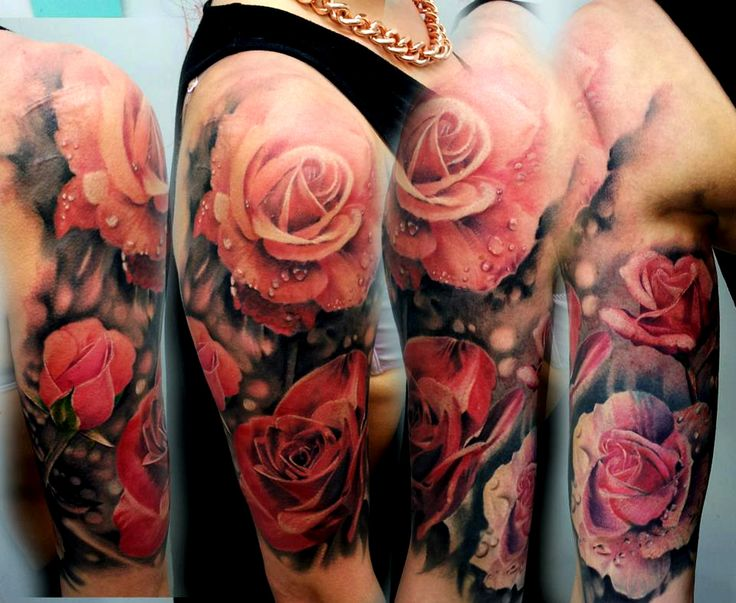 pretty much exactly the concept I want. The shades of color (minus the pink) with little to no black outline. shading behind the flowers (possibly the lace concept) plus a few of my blackbirds I've been wanting..