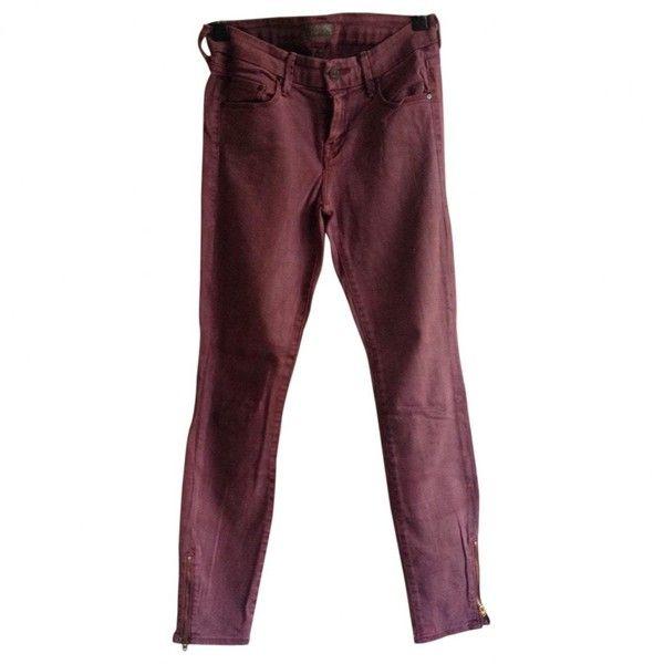 Pre-owned Mother Burgundy Cotton Jeans ($72) ❤ liked on Polyvore featuring  jeans - Viac Ako 25 Najlepších Nápadov Na Pintereste Na Tému Burgundy