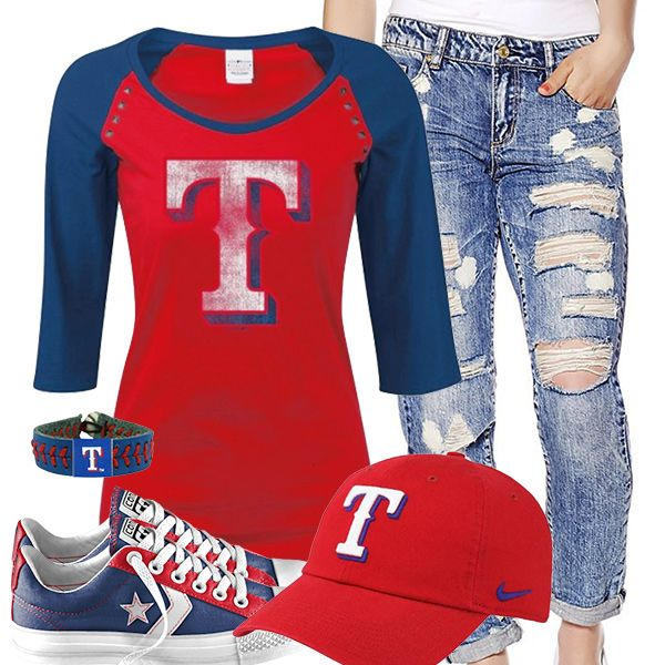 Texas Rangers Converse Outfit