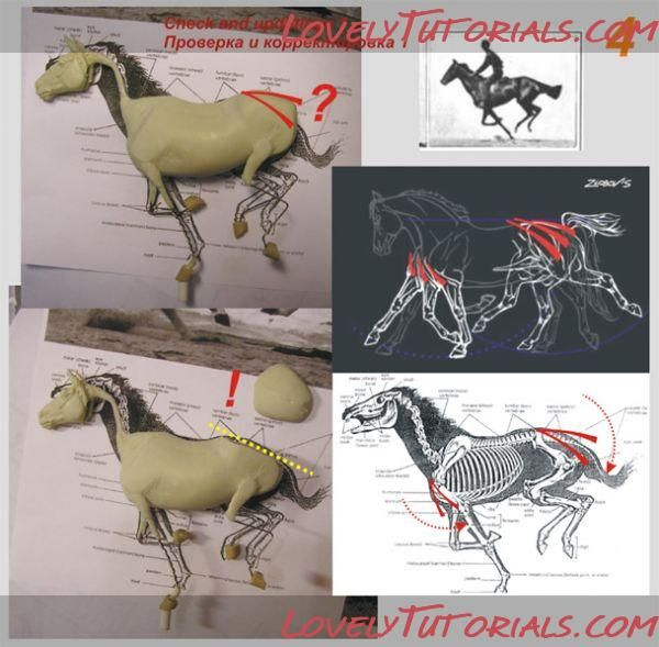 Several Horse sculpting tutorials, from basic to very realistic - Awesome site!!    Размер: 512.7 Кб