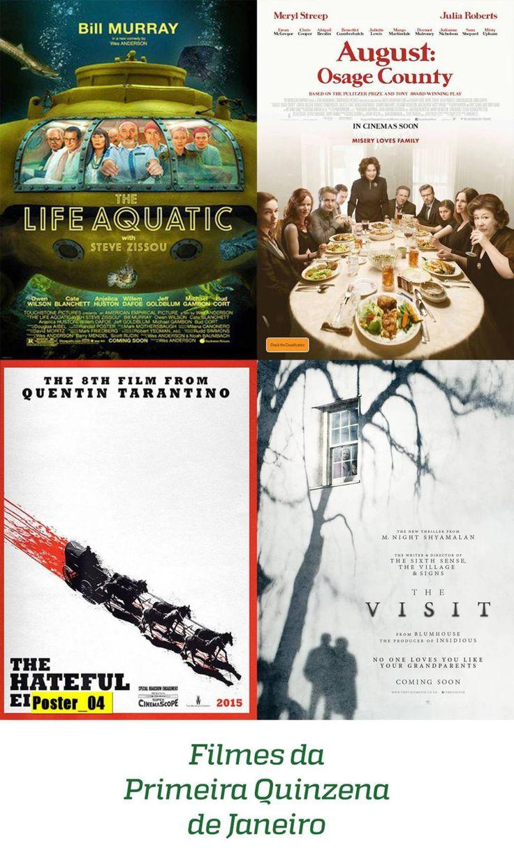 Aqui vai a lista dos filmes que vi na primeira quinzena de Janeiro. Então, eu gostei das escolhas que fiz, todos foram prazerosos e me transmitiram alguma coisa. A Vida Marinha com Steve Zis...