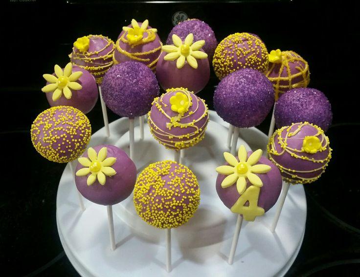Tangled themed Cake Pops
