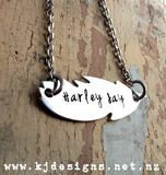 Feather Pendant - great for names <3  http://www.kjdesigns.net.nz/product/1416891