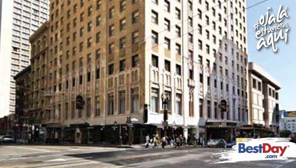 El hotel se encuentra a pasos de Union Square, el tranvía de Powell Street, Nordstrom's, Macy's y muchas otras atracciones en el centro de la ciudad. A 3 km se encuentra el Fisherman's Wharf, la Torre Coit, Nob Hill, el Barrio Chino y el Pac Bell Park.Las habitaciones cuentan con decoración colonial californiana, con cortinas clásicas rayadas, de apagados tonos de piedras preciosas, alfombras entramadas con estampados y muebles de rica caoba y madera de cerezo. #OjalaEstuvierasAqui