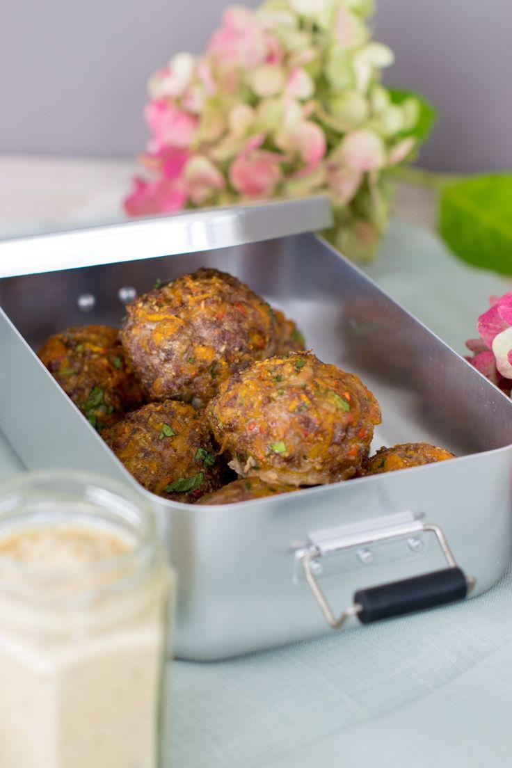 Kürbisfrikadellen mit Maronensenf, Herbst auf dem Teller, Rezepte im Herbst, gemütlich Küche