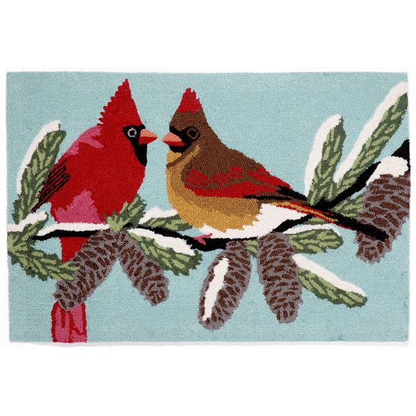 Liora Manne Frontporch Cardinals Hand Tufted Rectangular Rugs ($170) ❤ liked on Polyvore featuring home, rugs, liora manne rug, rectangle rugs, rectangular area rugs, liora manne area rug and rectangular rugs