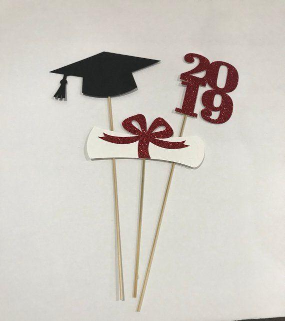 Graduation party decorations, Graduation Centerpiece, Cap, Diploma, Class of 2019, Graduation Decoration, 2019 Graduation, Graduation decor