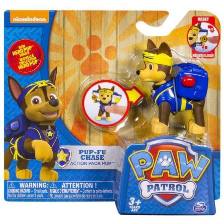 Paw Patrol Action Pack Pup Pup-Fu Chase Figure, Multicolor