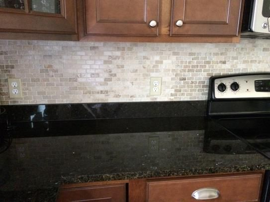 Msi Chiaro Brick 12 In X 10mm Tumbled Travertine Mesh Mounted Mosaic Tile Craftsman Litchen Pinterest Tiles Backsplash And
