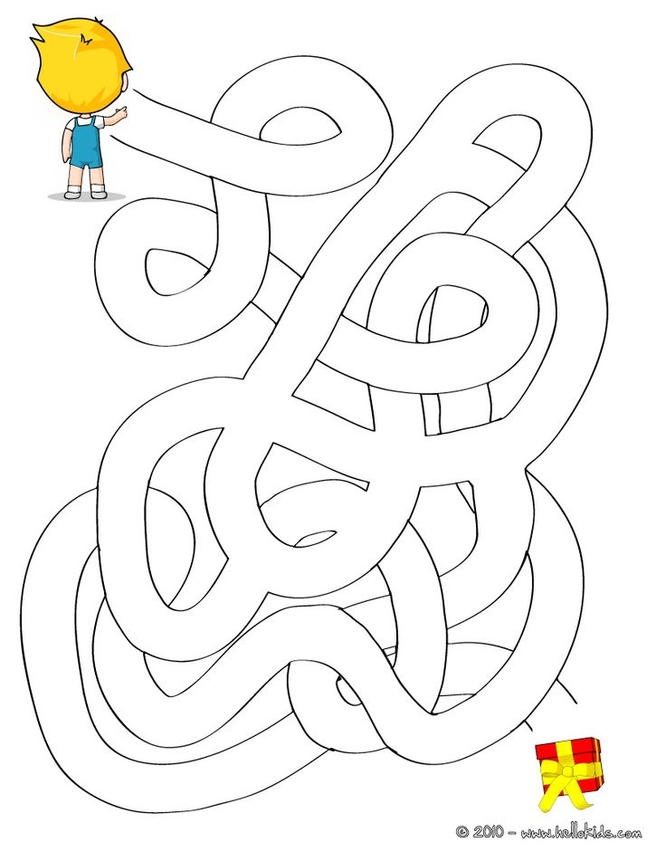 GIFT easy printable maze printable worksheet