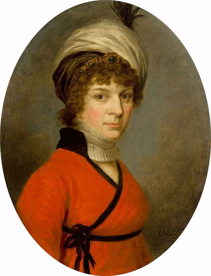 Portrait of a woman in a turban and a red dress by Kazimierz Wojniakowski, 1800 (PD-art/old), Muzeum Narodowe w Krakowie (MNK)