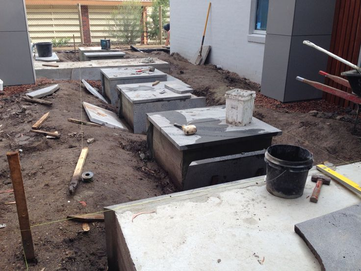 Under construction Raised bluestone pads Mt Eliza