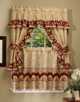 Amazon.com - Achim Home Furnishings Sunflower Cottage Set, 36-Inch, Antique.Its a nice Curtain for the whole year.