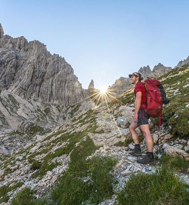 Catching the sun with @the_kiwi_kieran. On the trail to Mt. Hochvogel the highest mountain in the Allgäuer Alps. Can't recommend this trip enough. It was just a blast!
