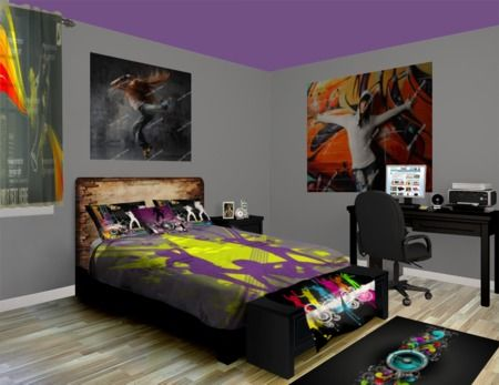 Our hip hop stop room is a one of a kind stylish design for Tomboy bedroom designs