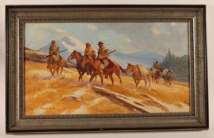 """Oil on Canvas """"Jim Bridger & Party"""" Gerald McCann  kp"""