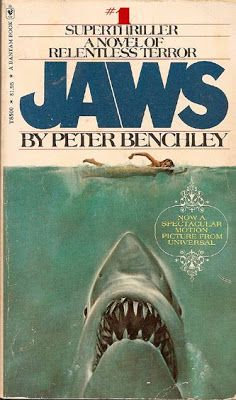 Jaws - by Peter Benchley. I was terrified after watching the movie!!!!