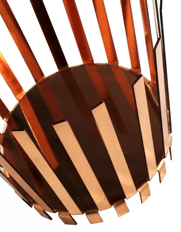 BEND - Cestini contenitori in lamiera di rame; Design: Nendo; Produzione: Onepercent