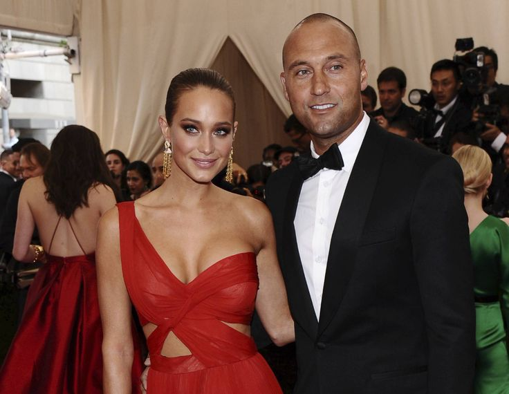 Derek Jeter's wife, Hannah, says they are expecting their first child together, a girl.