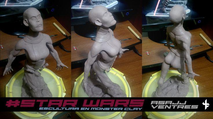 """Consulta mi proyecto @Behance: """"Asajj Ventres de STAR WARS en Monster Clay Hard"""" https://www.behance.net/gallery/46465609/Asajj-Ventres-de-STAR-WARS-en-Monster-Clay-Hard"""